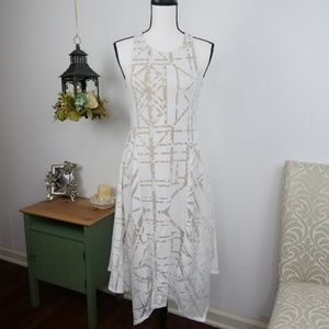Apt 9 Dress Geometric Sheer Fit & Flare Style XS